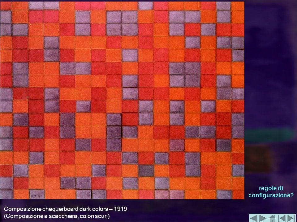 Composizione chequerboard dark colors – 1919 (Composizione a scacchiera, colori scuri) regole di configurazione?