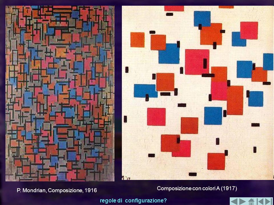 P. Mondrian, Composizione, 1916 Composizione con colori A (1917) regole di configurazione?