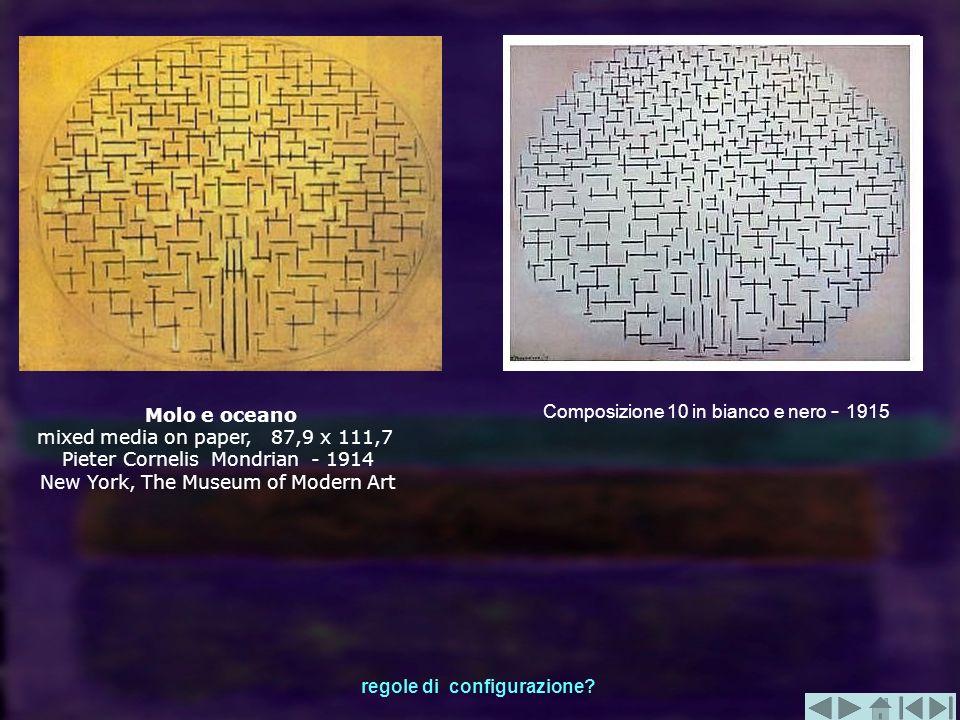 Composizione 10 in bianco e nero - 1915 Molo e oceano mixed media on paper, 87,9 x 111,7 Pieter Cornelis Mondrian - 1914 New York, The Museum of Moder