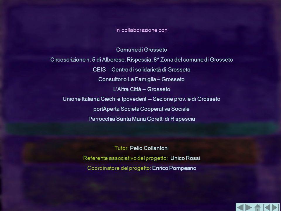 In collaborazione con Comune di Grosseto Circoscrizione n. 5 di Alberese, Rispescia, 8^ Zona del comune di Grosseto CEIS – Centro di solidarietà di Gr