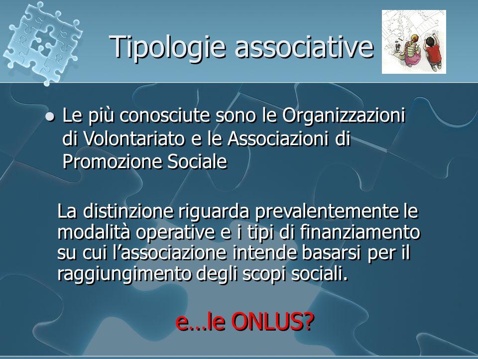 Le più conosciute sono le Organizzazioni di Volontariato e le Associazioni di Promozione Sociale e…le ONLUS? La distinzione riguarda prevalentemente l