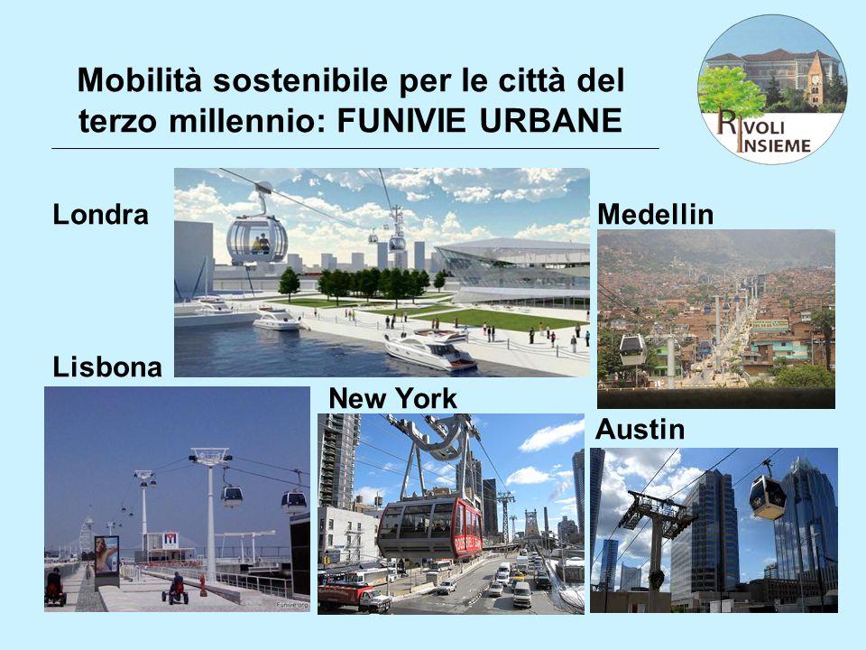 Mobilità sostenibile per le città del terzo millennio: FUNIVIE URBANE Londra Medellin Lisbona New York Austin