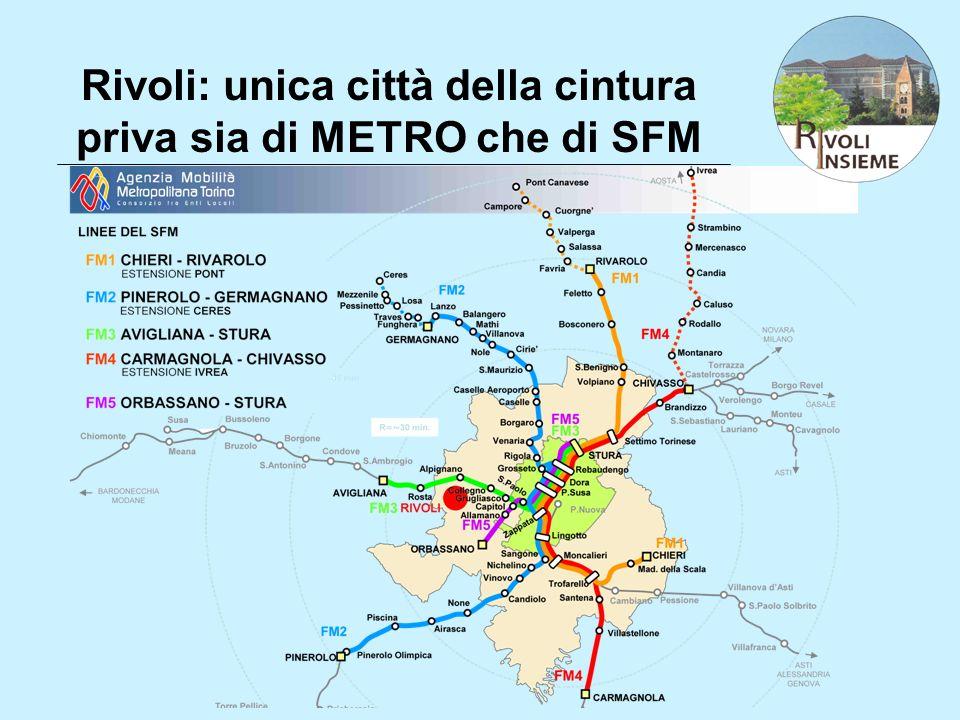 Rivoli: unica città della cintura priva sia di METRO che di SFM