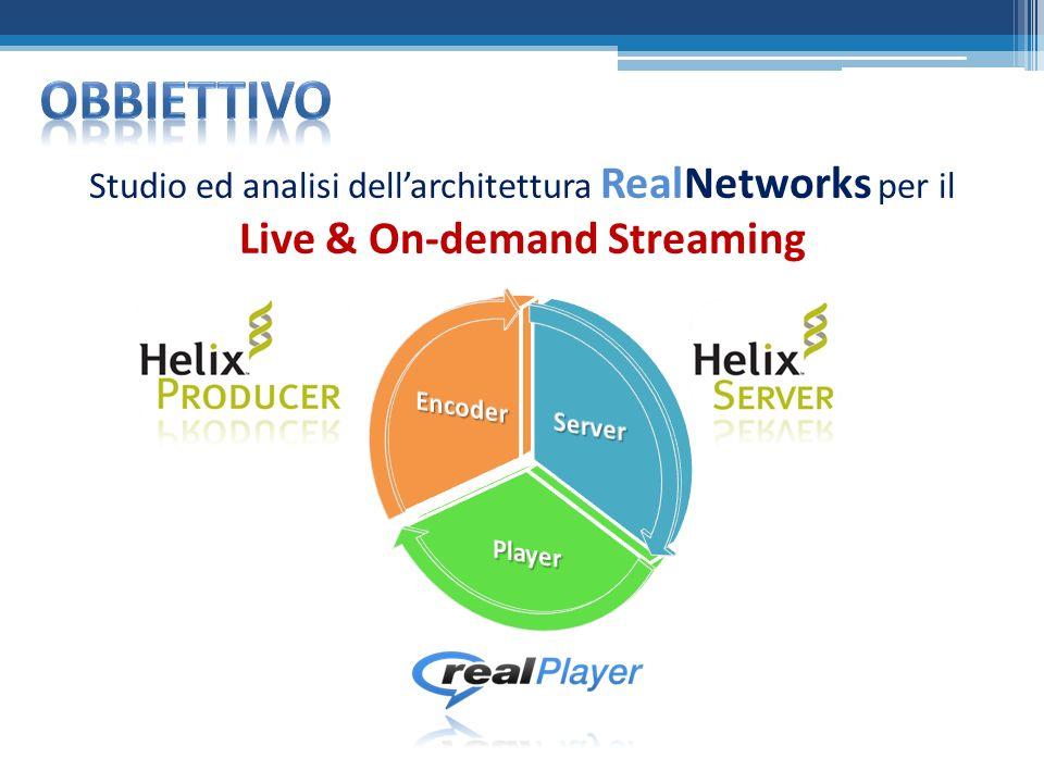 Studio ed analisi dellarchitettura RealNetworks per il Live & On-demand Streaming