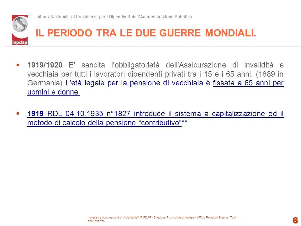 INPDAP - Direzione Provinciale di Varese - Ufficio Relazioni con il Pubblico LA MANOVRA FINANZIARIA 2011/13 D.L.