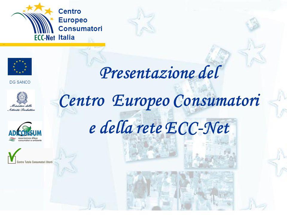 Centro Europeo Consumatori Italia ………. DG SANCO Presentazione del Centro Europeo Consumatori e della rete ECC-Net