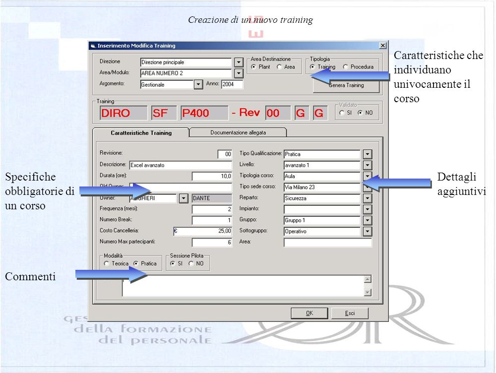 User management Login Users name and last name Password Company sector handled by the user Access level