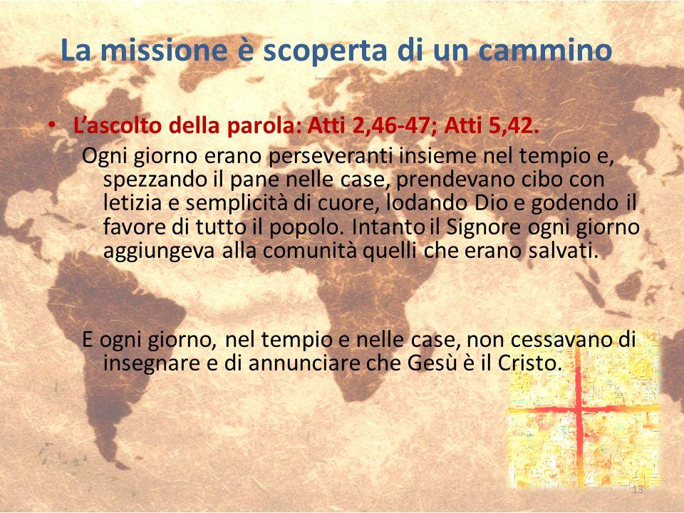 Lascolto della parola: Atti 2,46-47; Atti 5,42. Ogni giorno erano perseveranti insieme nel tempio e, spezzando il pane nelle case, prendevano cibo con