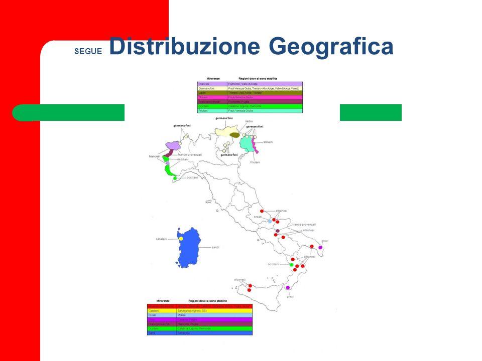 SEGUE Distribuzione Geografica