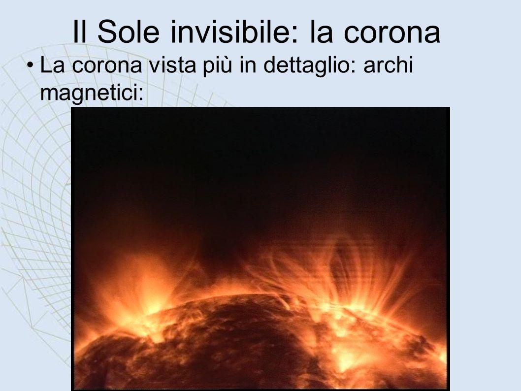 Il Sole invisibile: la corona La corona vista più in dettaglio: archi magnetici: