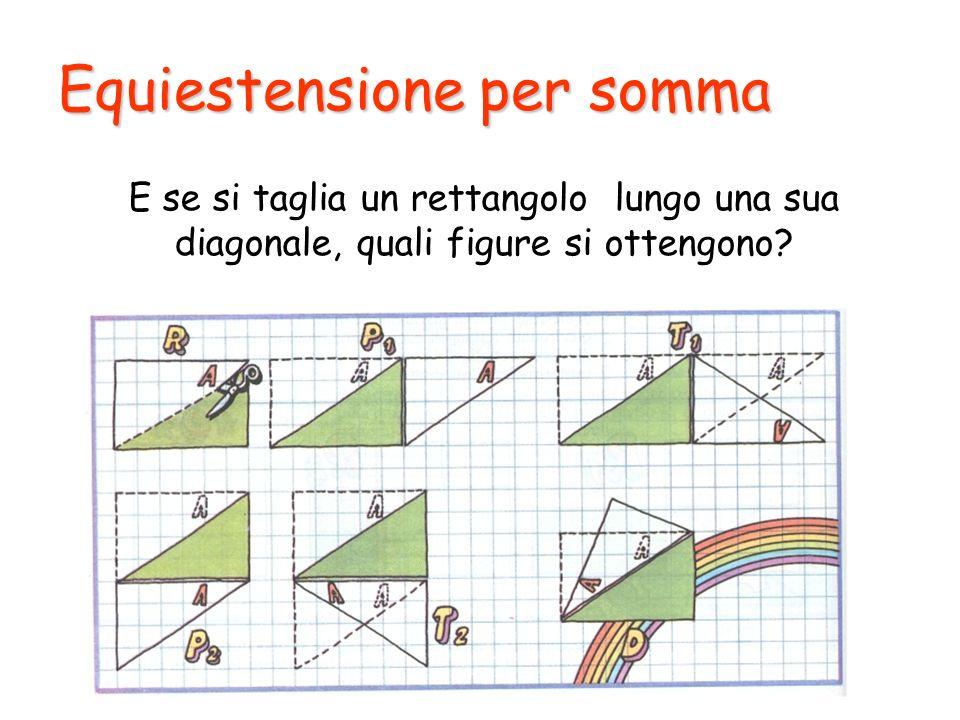 Equiestensione per somma E se si taglia un rettangolo lungo una sua diagonale, quali figure si ottengono?