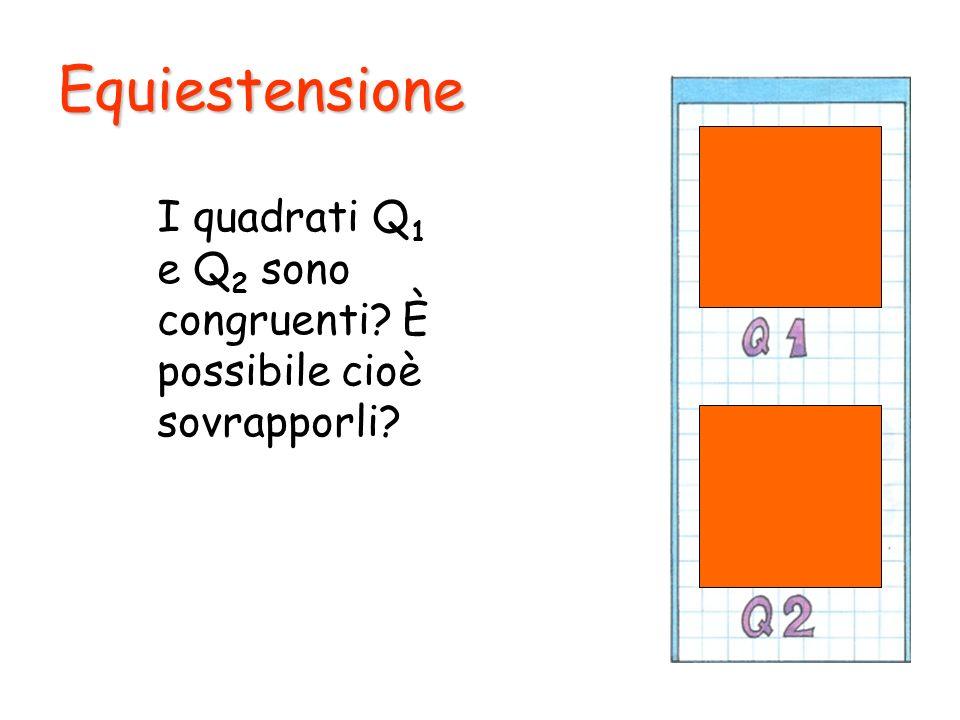 Equiestensione I quadrati Q 1 e Q 2 sono congruenti? È possibile cioè sovrapporli?