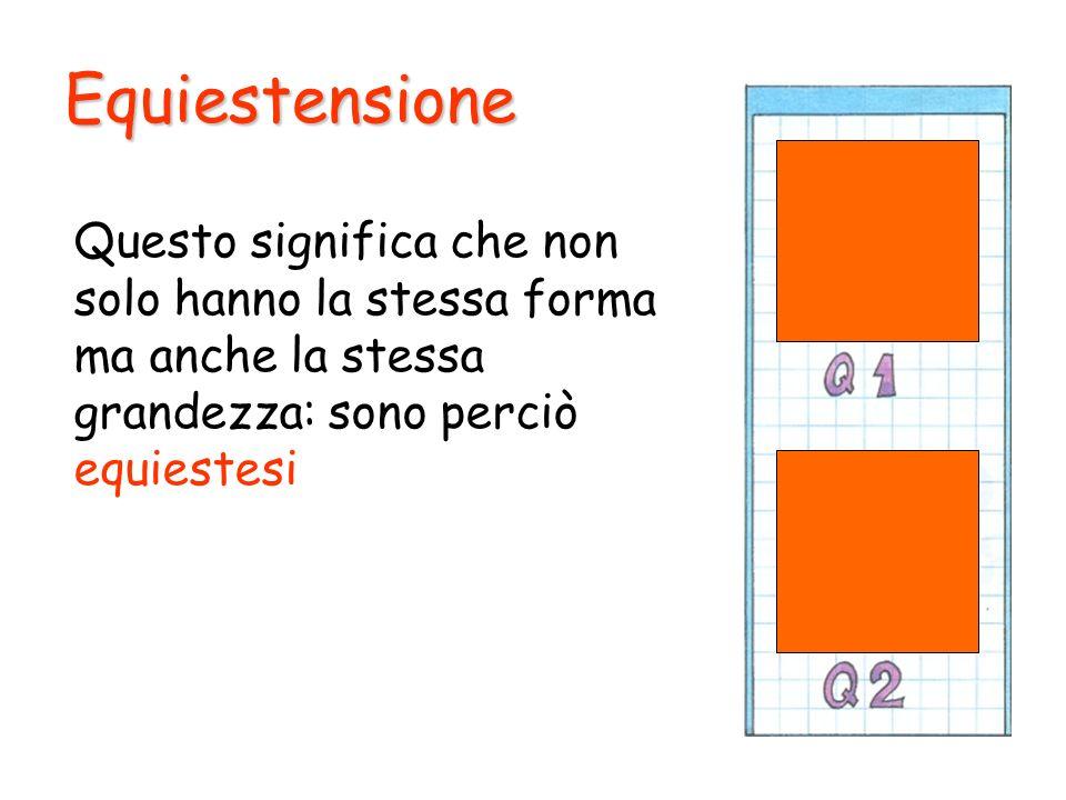 Equiestensione Puoi dire che le parti colorate di Q 1 e Q 2 sono congruenti.