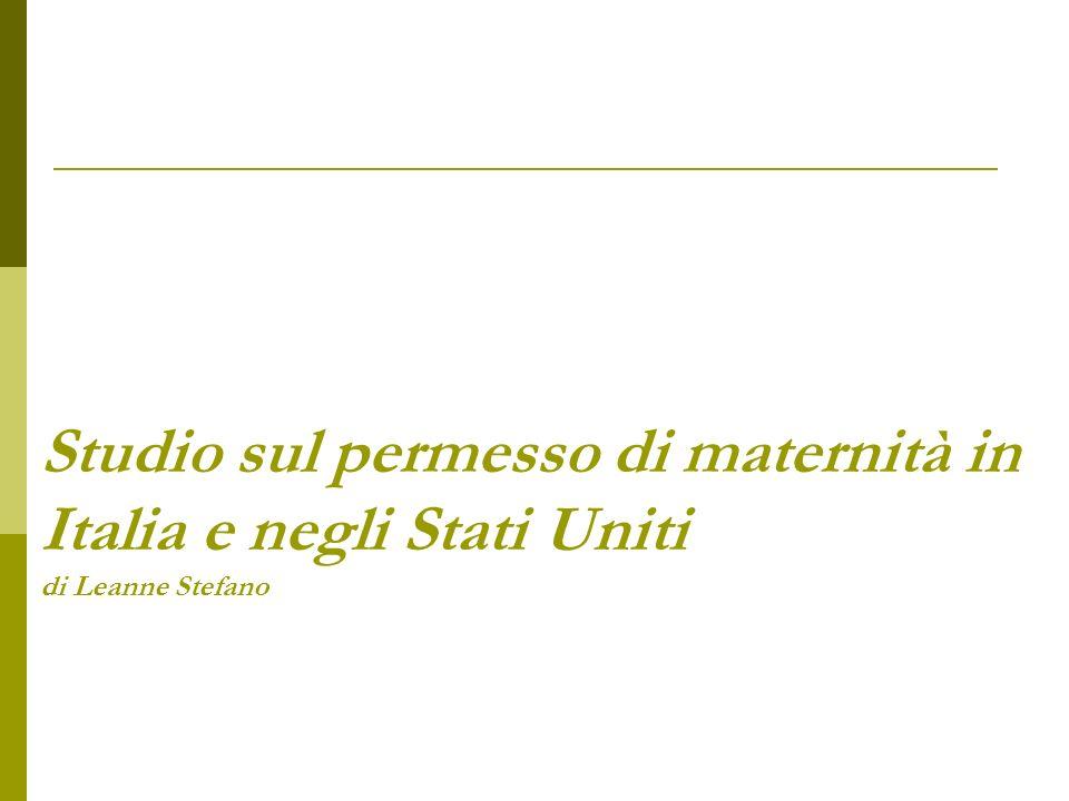 Studio sul permesso di maternità in Italia e negli Stati Uniti di Leanne Stefano