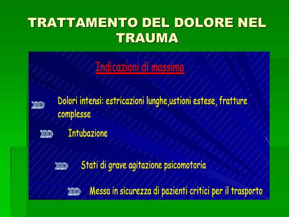 TRATTAMENTO DEL DOLORE NEL TRAUMA