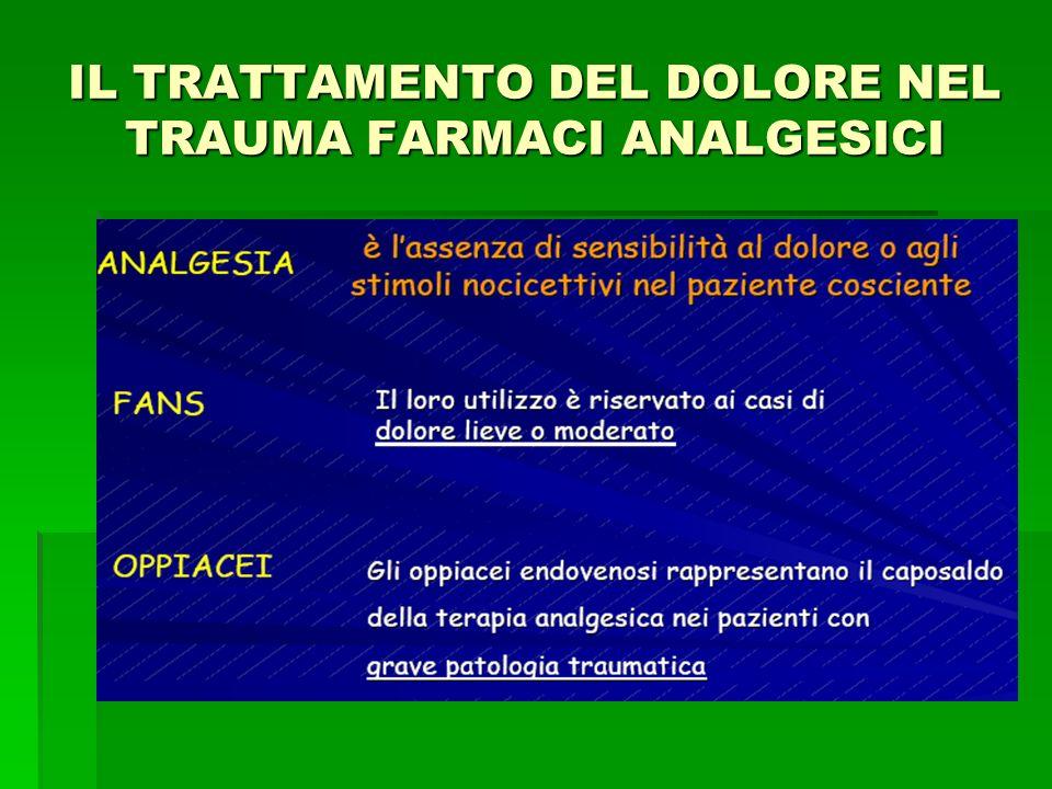 IL TRATTAMENTO DEL DOLORE NEL TRAUMA FARMACI ANALGESICI