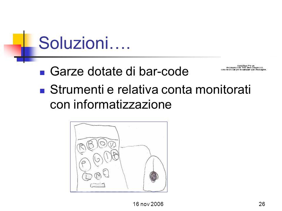 16 nov 200626 Soluzioni….