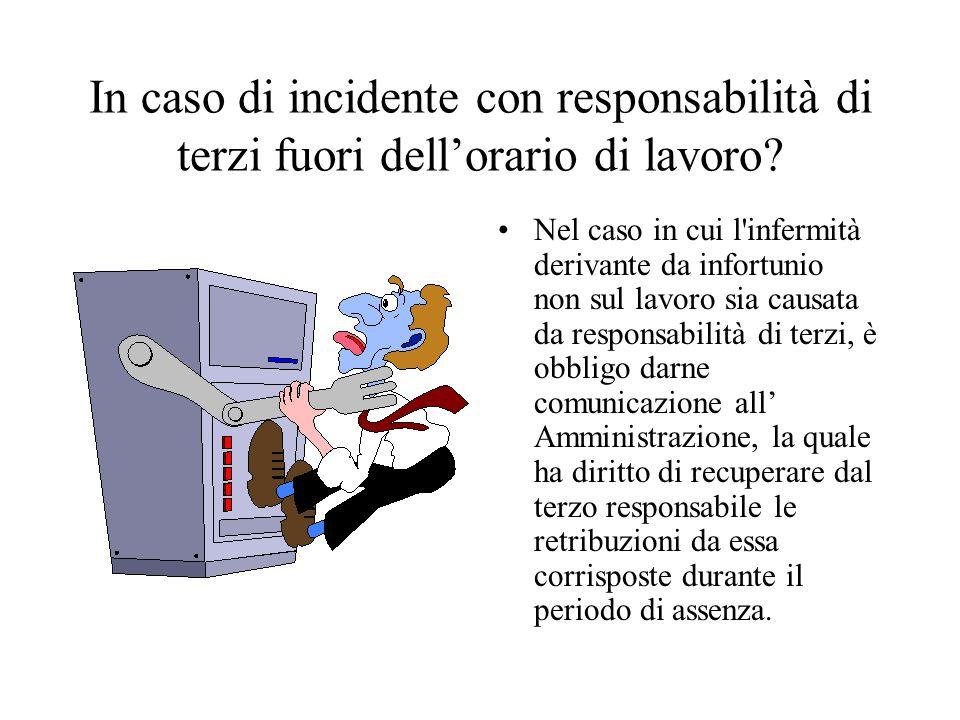 In caso di incidente con responsabilità di terzi fuori dellorario di lavoro.