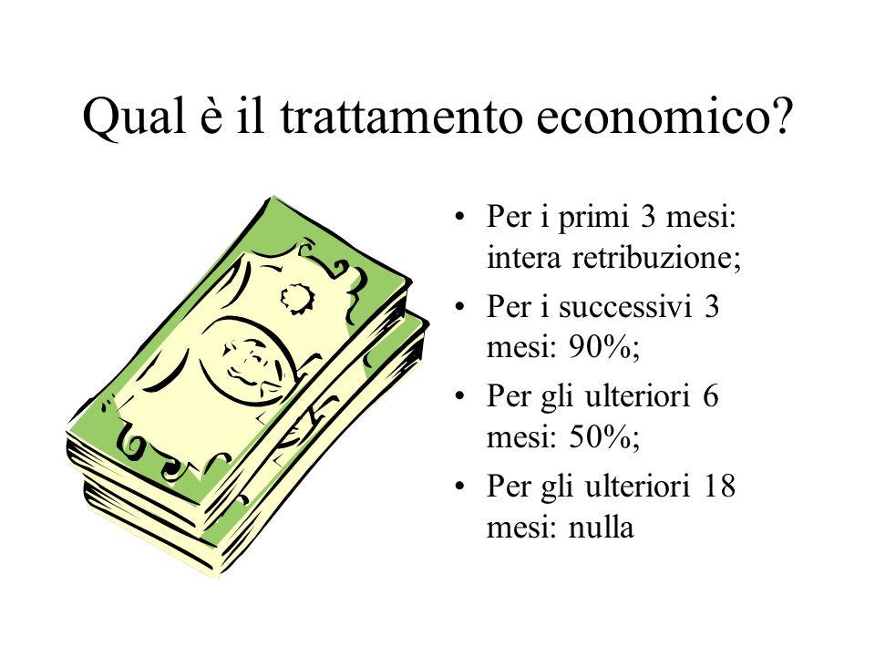 Qual è il trattamento economico.
