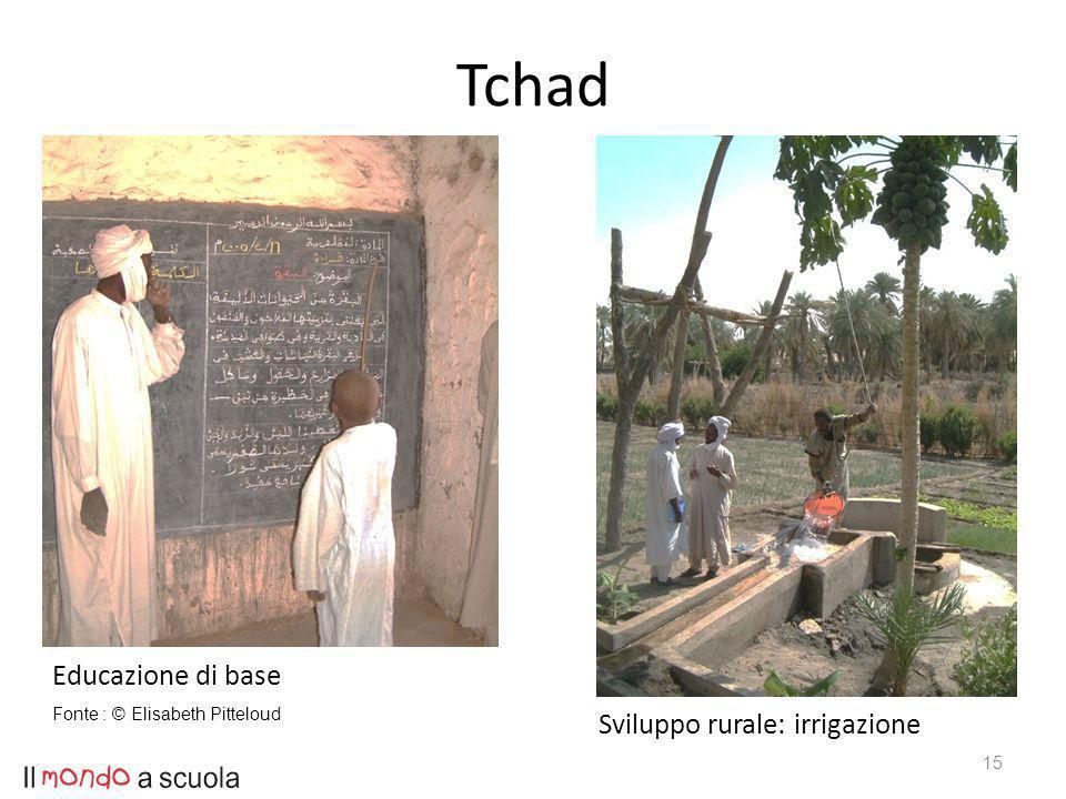 15 Educazione di base Sviluppo rurale: irrigazione Fonte : © Elisabeth Pitteloud Tchad
