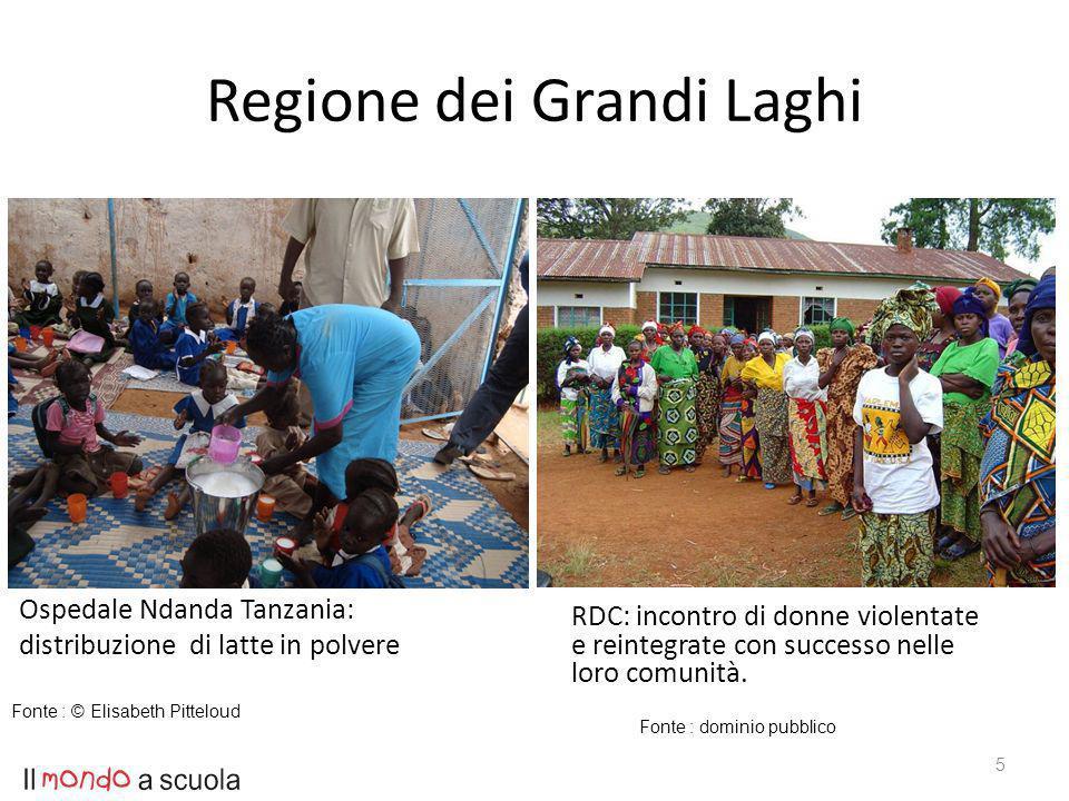 Regione dei Grandi Laghi Ospedale Ndanda Tanzania: distribuzione di latte in polvere RDC: incontro di donne violentate e reintegrate con successo nelle loro comunità.