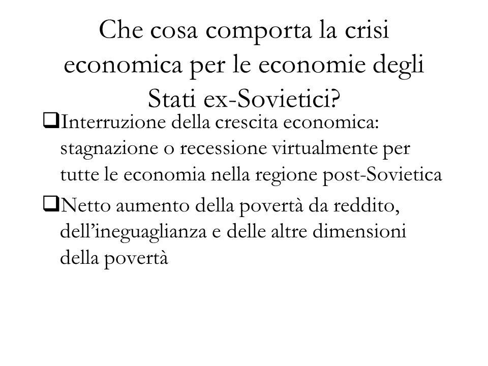 Che cosa comporta la crisi economica per le economie degli Stati ex-Sovietici.