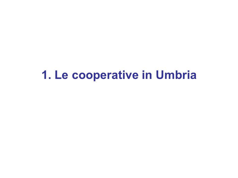 1. Le cooperative in Umbria