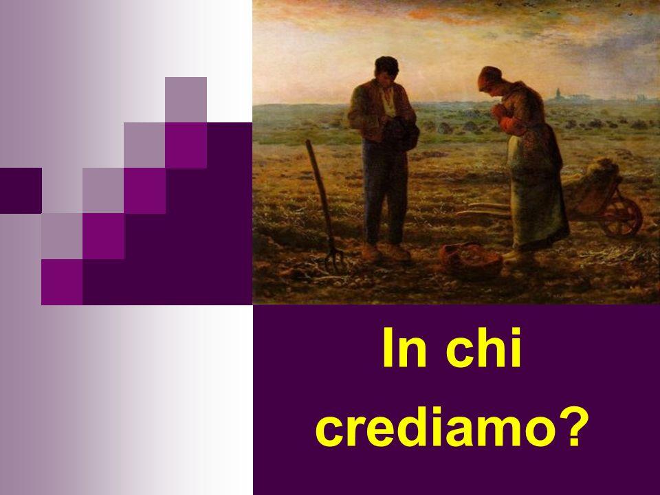 Articolo 1 « CREDO IN UN SOLO DIO, PADRE ONNIPOTENTE, CREATORE DEL CIELO E DELLA TERRA, DI TUTTE LE COSE VISIBILI E INVISIBILI.