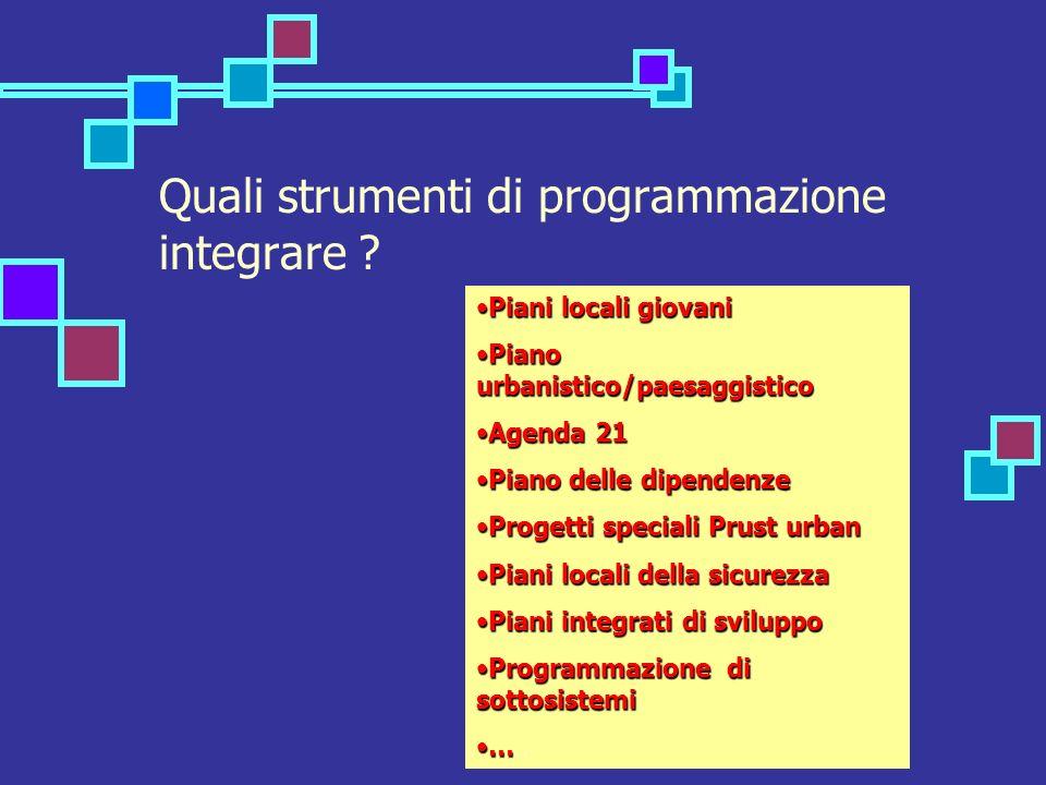Quali strumenti di programmazione integrare .