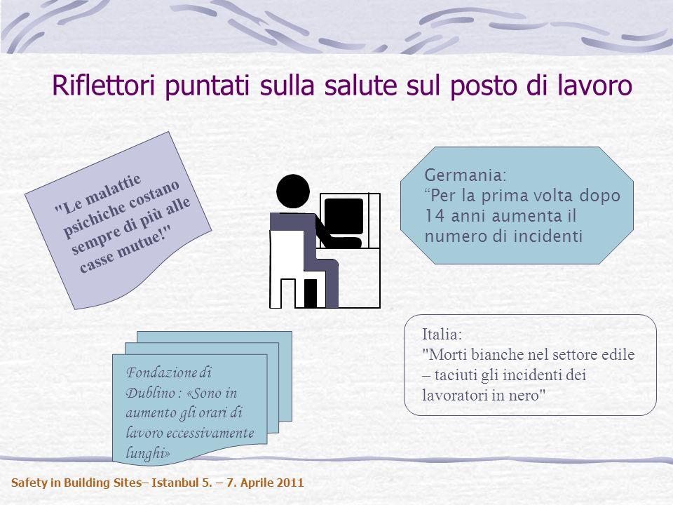 Carichi da lavoro in Europa Safety in Building Sites– Istanbul 5. – 7. Aprile 2011