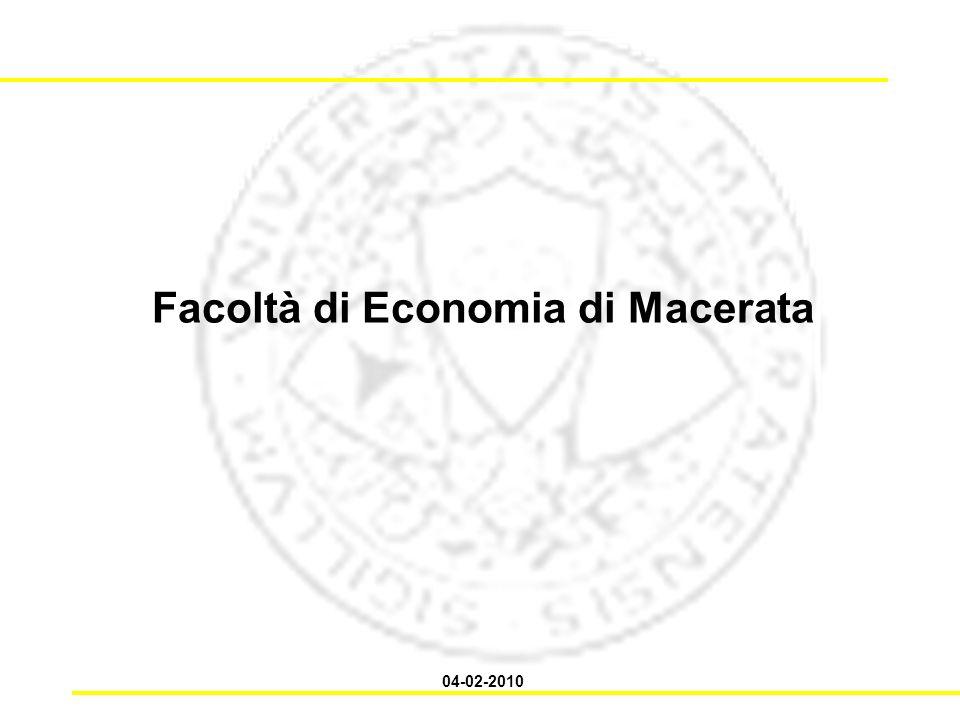 Facoltà di Economia di Macerata 04-02-2010