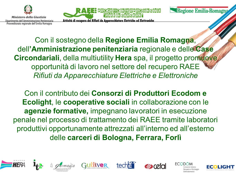 Con il sostegno della Regione Emilia Romagna, dellAmministrazione penitenziaria regionale e delle Case Circondariali, della multiutility Hera spa, il