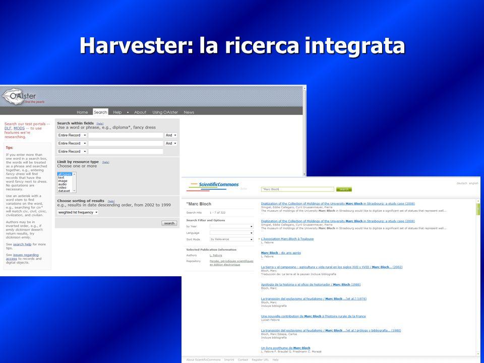 Harvester: la ricerca integrata