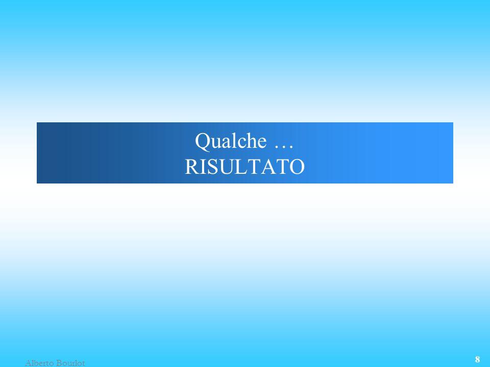 Alberto Bourlot 8 Qualche … RISULTATO