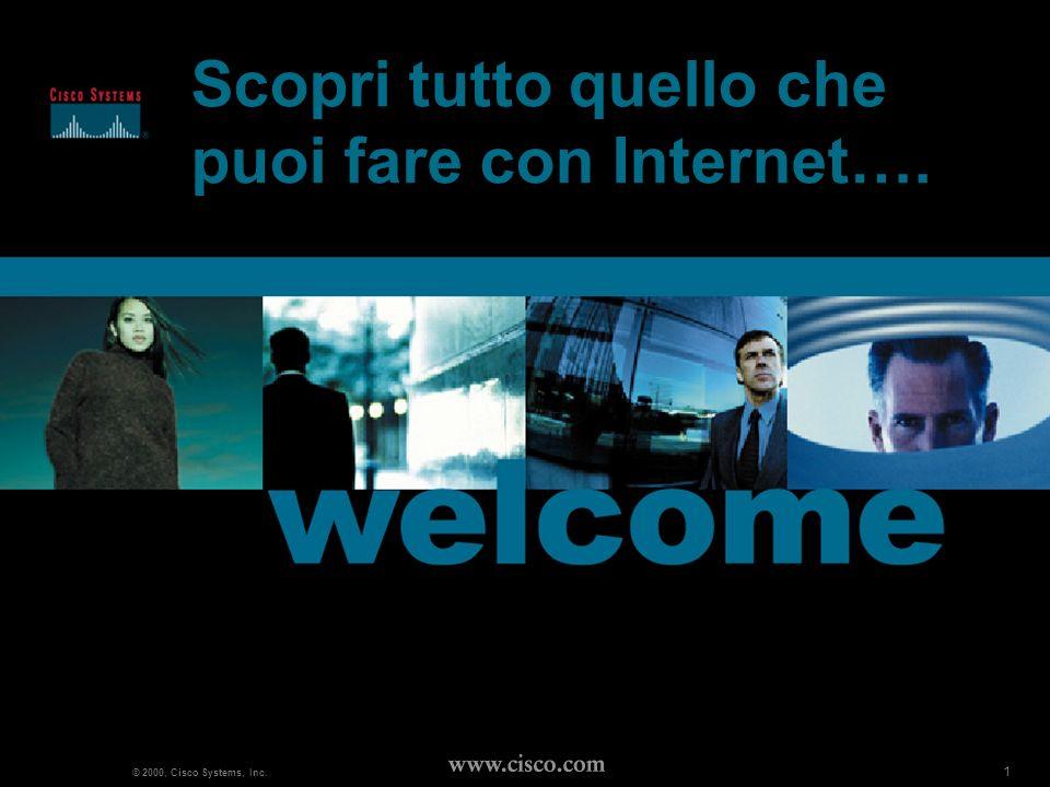 2 www.cisco.com Da company a e-company Cisco Systems Italy FY 01 new world 2 © 2000, Cisco Systems, Inc.