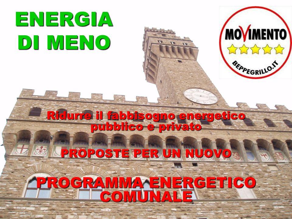 ENERGIA DI MENO Ridurre il fabbisogno energetico pubblico e privato PROPOSTE PER UN NUOVO PROGRAMMA ENERGETICO COMUNALE