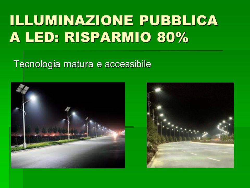 ILLUMINAZIONE PUBBLICA A LED: RISPARMIO 80% Tecnologia matura e accessibile