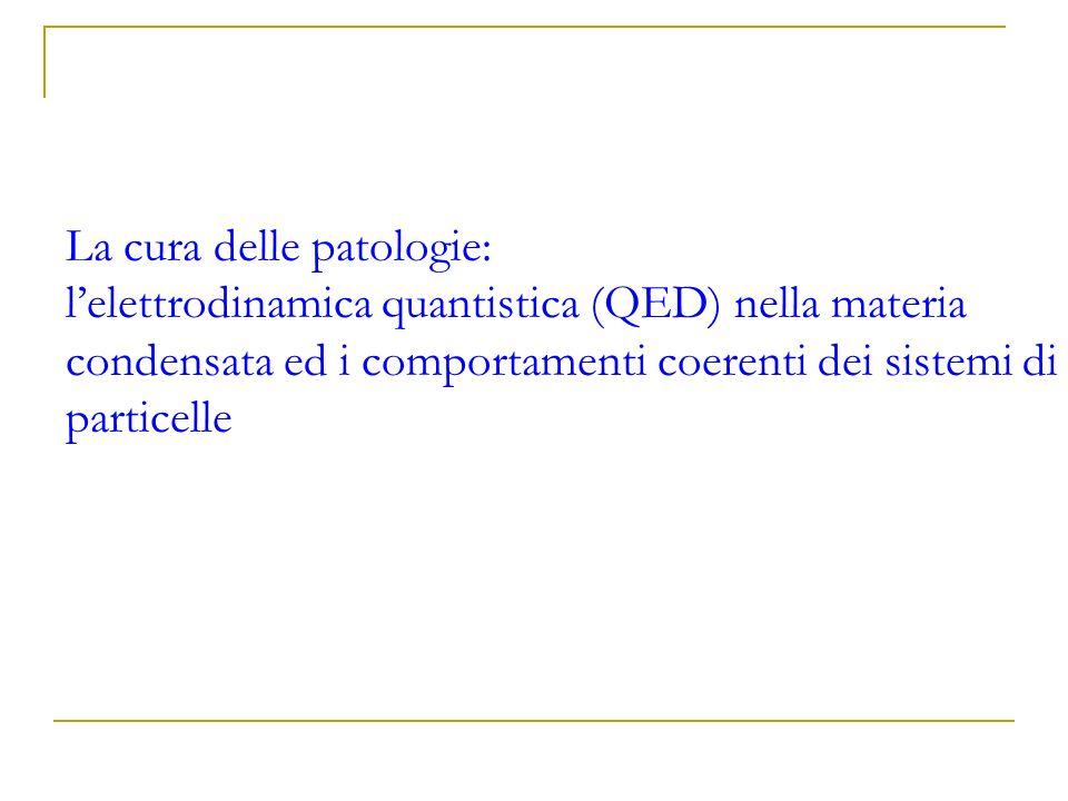 La cura delle patologie: lelettrodinamica quantistica (QED) nella materia condensata ed i comportamenti coerenti dei sistemi di particelle