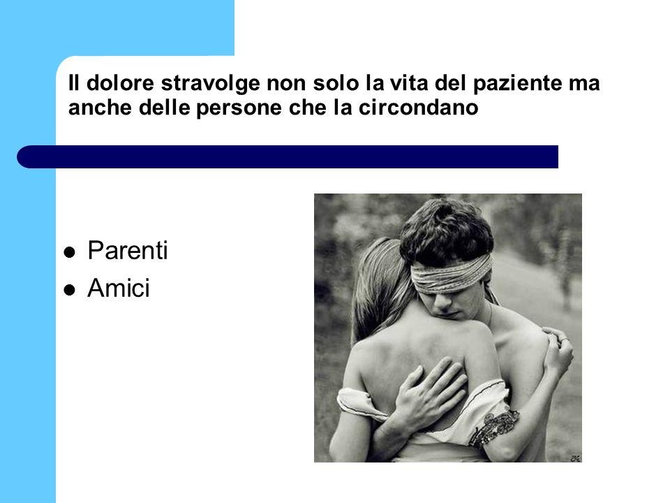 Il dolore stravolge non solo la vita del paziente ma anche delle persone che la circondano Parenti Amici