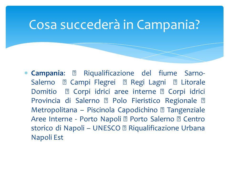 Campania: Riqualificazione del fiume Sarno- Salerno Campi Flegrei Regi Lagni Litorale Domitio Corpi idrici aree interne Corpi idrici Provincia di Sale