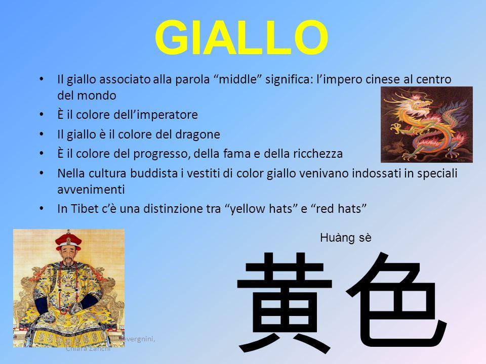 GIALLO Il giallo associato alla parola middle significa: limpero cinese al centro del mondo È il colore dellimperatore Il giallo è il colore del drago