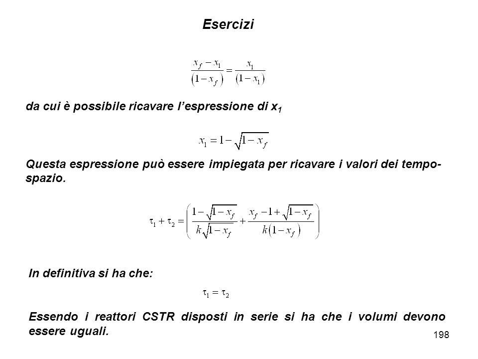 198 Esercizi da cui è possibile ricavare lespressione di x 1 Questa espressione può essere impiegata per ricavare i valori dei tempo- spazio.
