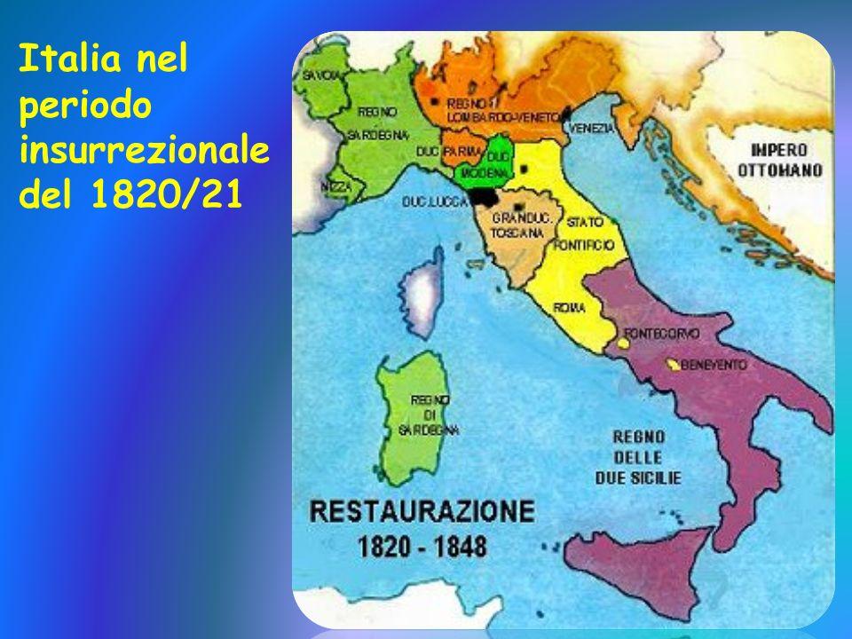 Italia nel periodo insurrezionale del 1820/21
