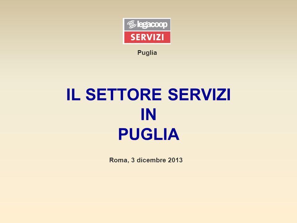IL SETTORE SERVIZI IN PUGLIA Puglia Roma, 3 dicembre 2013