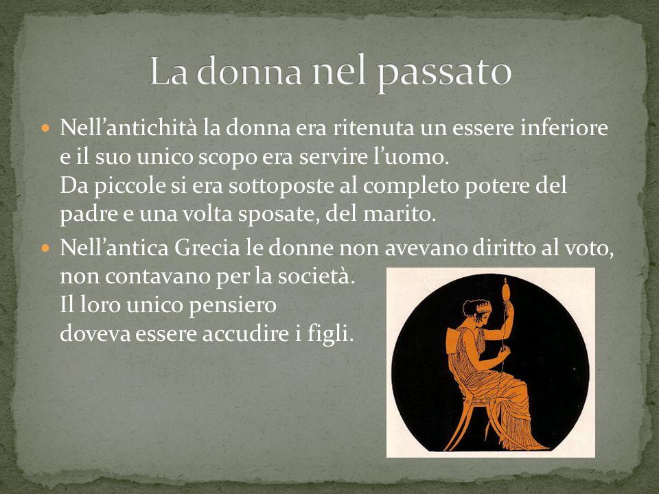 Molti illustri filosofi dellantichità hanno esposto violente critiche nei confronti delle donne: Euripide, considerato uno dei più grandi poeti del mondo, affermava che la donna fosse il peggiore dei mali.