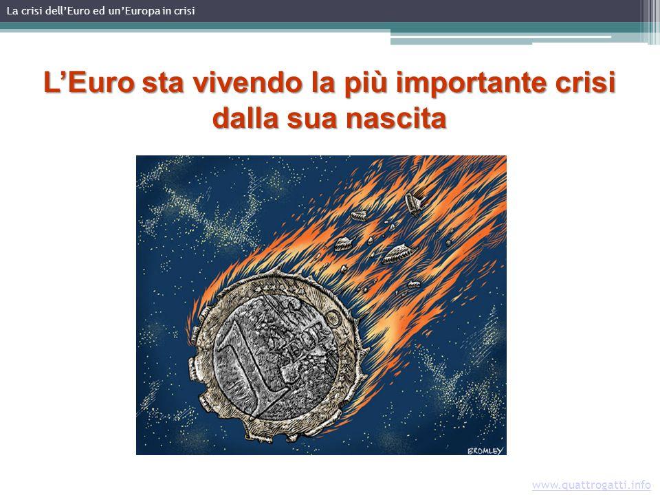 LEuro sta vivendo la più importante crisi dalla sua nascita Immagine: ft.com La crisi dellEuro ed unEuropa in crisi www.quattrogatti.info