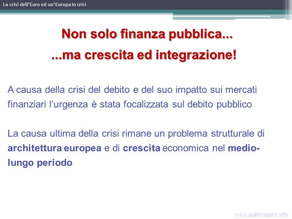 www.quattrogatti.info Non solo finanza pubblica...