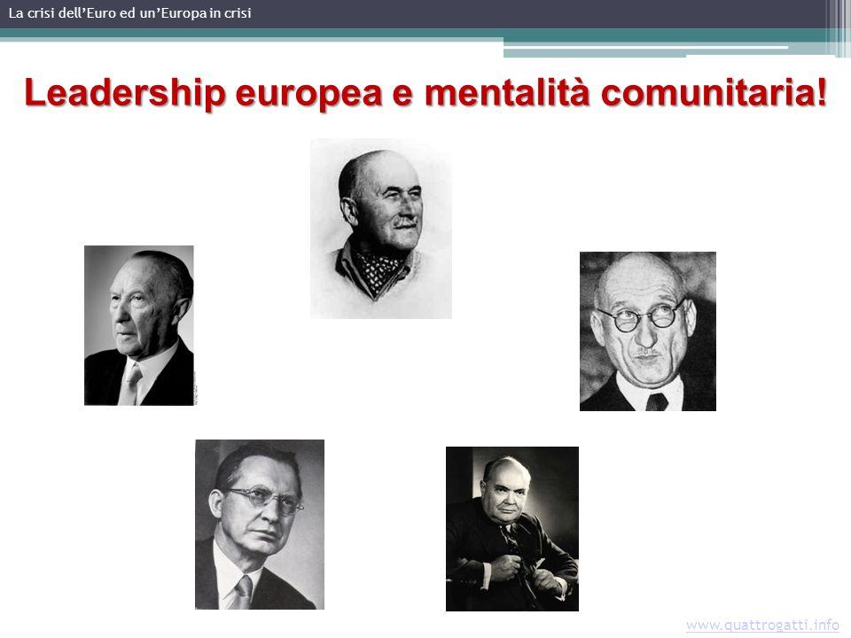 www.quattrogatti.info Leadership europea e mentalità comunitaria.