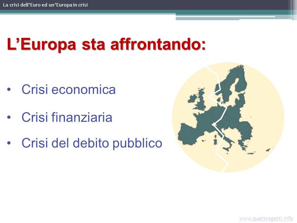 LEuropa sta affrontando: Crisi economica Crisi finanziaria Crisi del debito pubblico La crisi dellEuro ed unEuropa in crisi www.quattrogatti.info