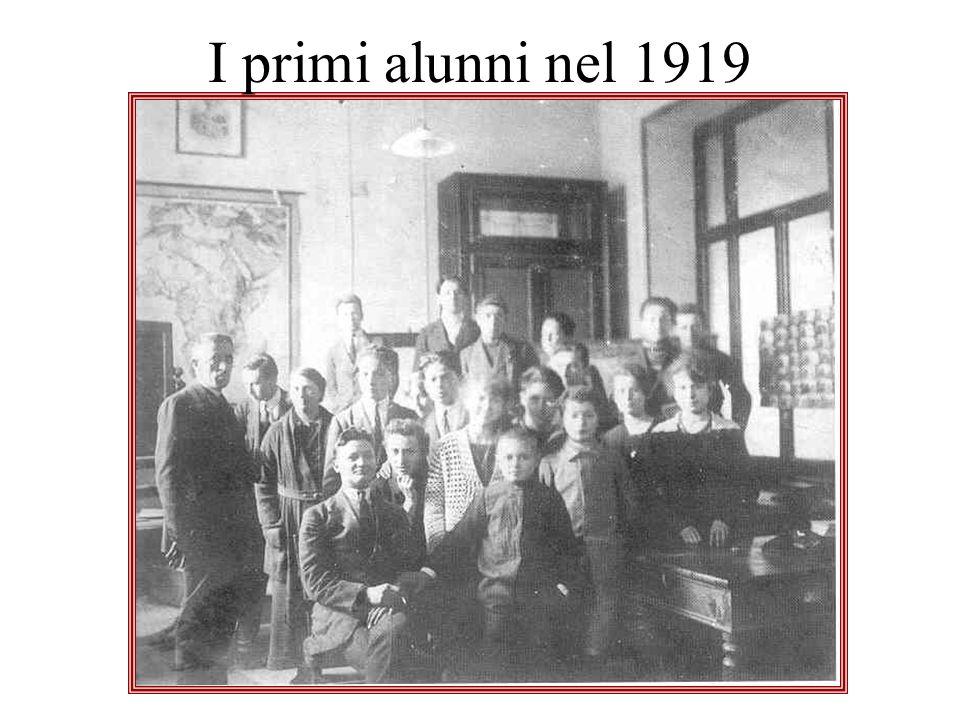 I primi alunni nel 1919